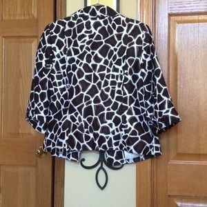 Investments Jackets & Coats - Animal print jacket with 3/4 sleeves.